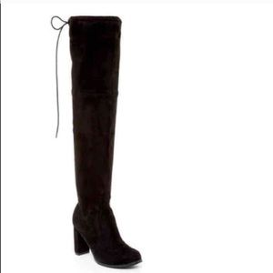 Catherine Malandrino black over the knee boots